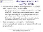 p rdidas fiscales art 61 lisr