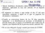 ufin art 11 fii dividendos