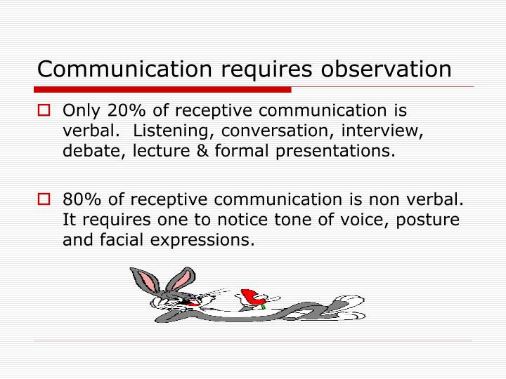 Communication requires observation