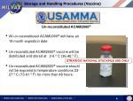 storage and handling procedures vaccine