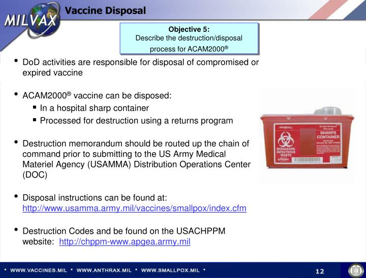 Vaccine Disposal