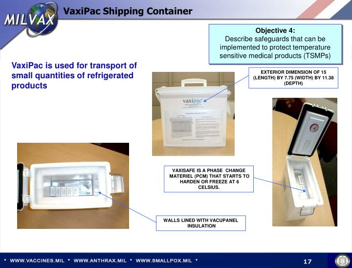 VaxiPac Shipping Container