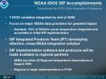 noaa ioos dif accomplishments