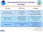 recommended web services and data encodings