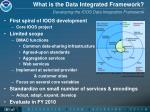 what is the data integrated framework