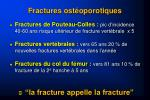 fractures ost oporotiques