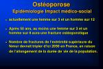 ost oporose epid miologie impact m dico social