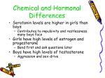 chemical and hormonal differences
