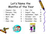 let s name the months of the year