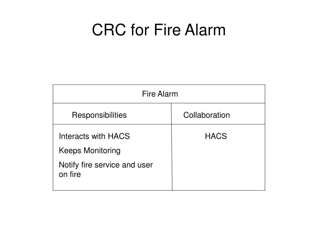 CRC for Fire Alarm
