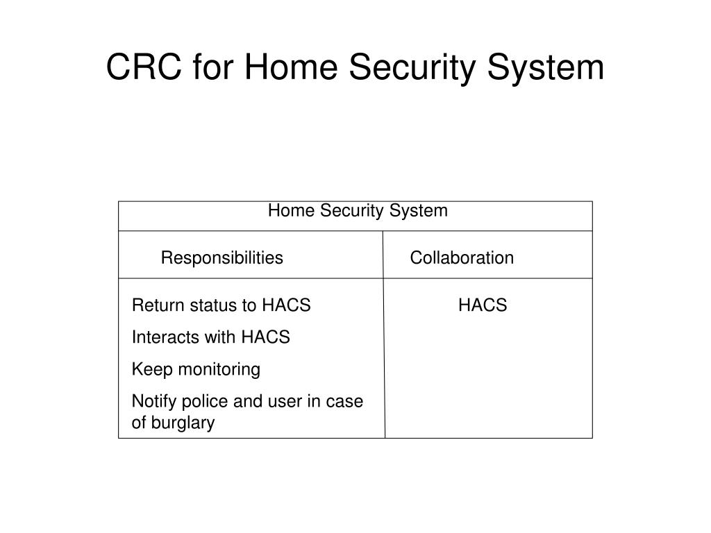 CRC for Home Security System