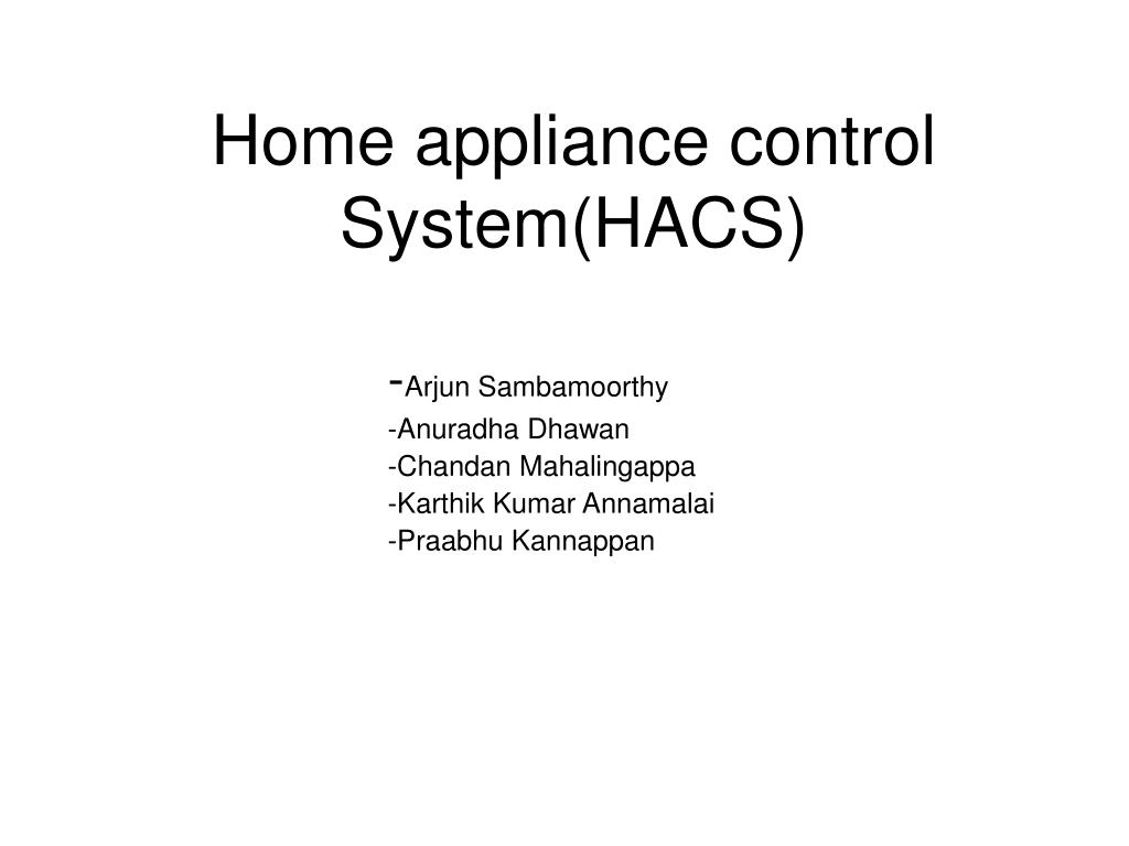 home appliance control system hacs l.