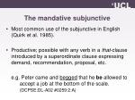 the mandative subjunctive