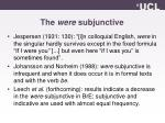the were subjunctive1