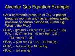 alveolar gas equation example