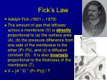 fick s law