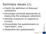 summary issues 1