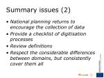 summary issues 2