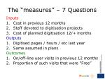 the measures 7 questions