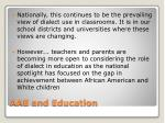 aae and education1