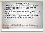 dialectal variation and literacy skills7