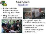 civil affairs functions