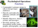 psychological operations functions