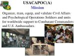 usacapoc a mission