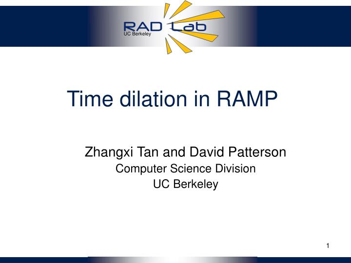time dilation in ramp n.