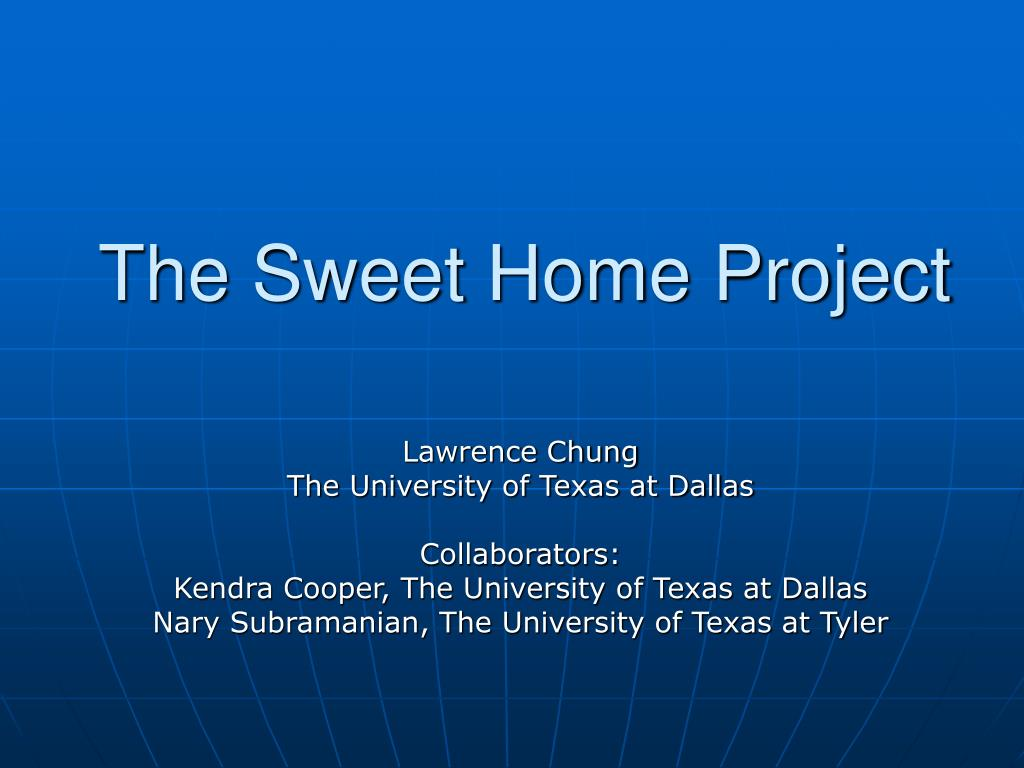 the sweet home project l.