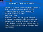 kenya ict sector priorities