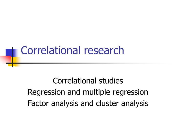 correlational research n.