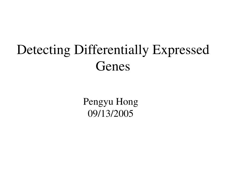 detecting differentially expressed genes n.