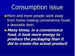 consumption issue
