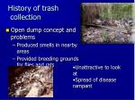history of trash collection