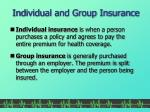 individual and group insurance