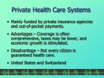 private health care systems