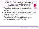 culp cambridge university language programme