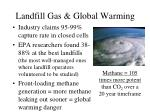 landfill gas global warming
