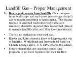 landfill gas proper management