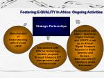 fostering e quality in africa ongoing activities2