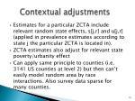 contextual adjustments