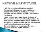 multilevel survey studies