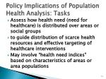 policy implications of population health analysis tasks