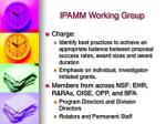 ipamm working group