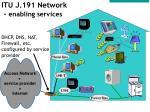 itu j 191 network enabling services