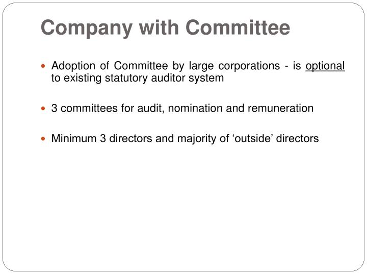 Company with Committee