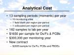 analytical cost