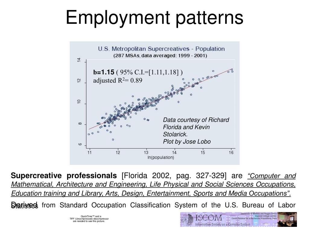 Employment patterns