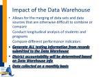 impact of the data warehouse